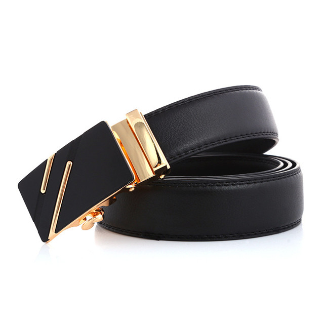 Men's Belt Automatic Buckle Belt Men Fashion Business Custom Chain Belt Body Buckle Leather Waist