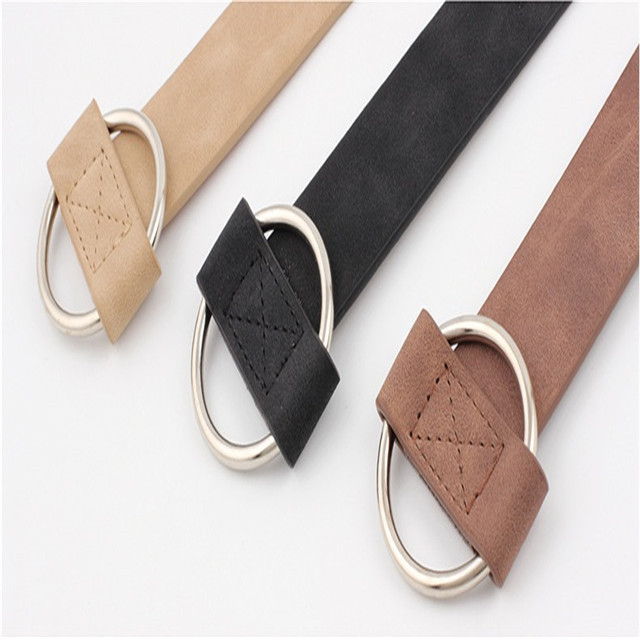 No Needle Circle Leisure Ladies Belt Youth Fashion Wide Belt Wholesale Belt Female Manufacturers Direct Creative Style
