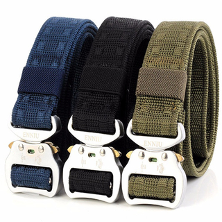 ENNIU3.8 Aluminum Buckle Tactical Men's Military Fans Tactical Belt Multi-functional Nylon Outdoor Training Belt