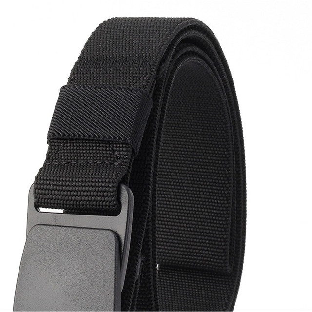 Thickened Security Belt Thickened Canvas Belt Elastic Stretch Leisure Belt for Men Can Be Customized