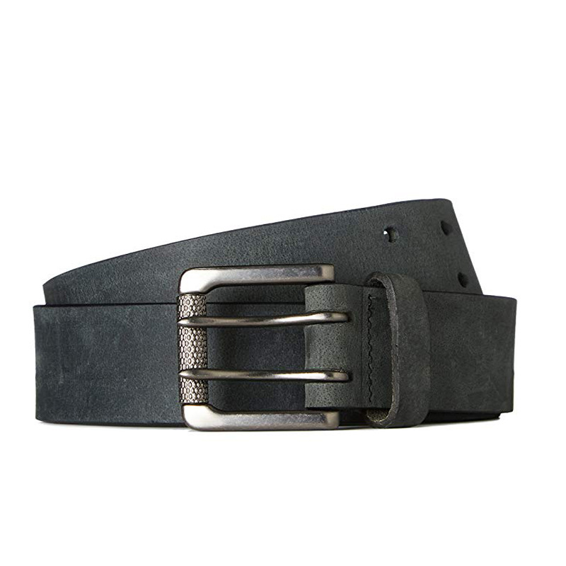 The Leather Belt Custom Foreign Trade Men's Leisure 100 Take Double Needle Buckle Genuine Manual Waist Lead Layer Cowhide Multi-color Optional