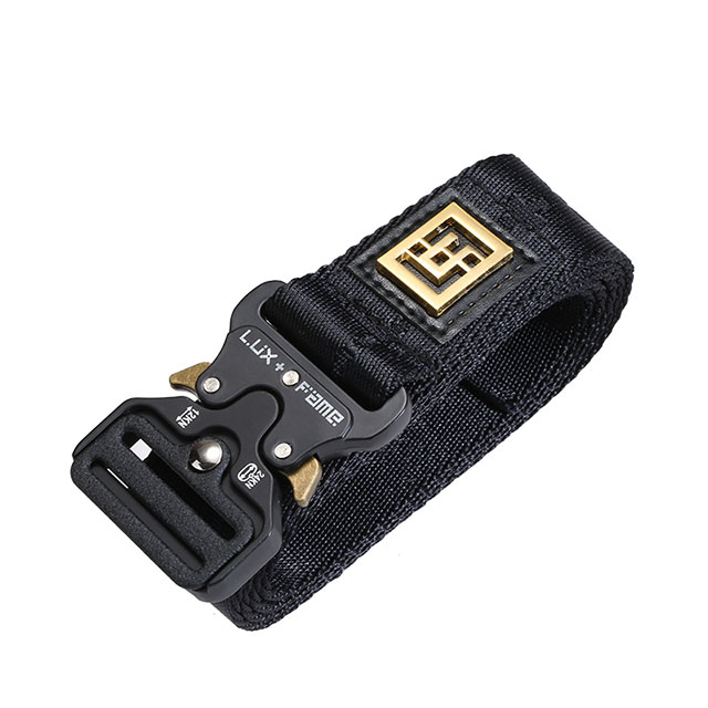 Highend Real Nylon Jacquard Logo Customized Military Tactical Belt with 38mm Cobra Buckle In Stock