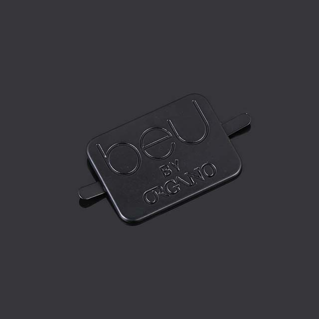 Hot Sell Hardware Accessories Engraved Gunmetal Name Logo Custom Metal Plates Labels Tags for Wallets