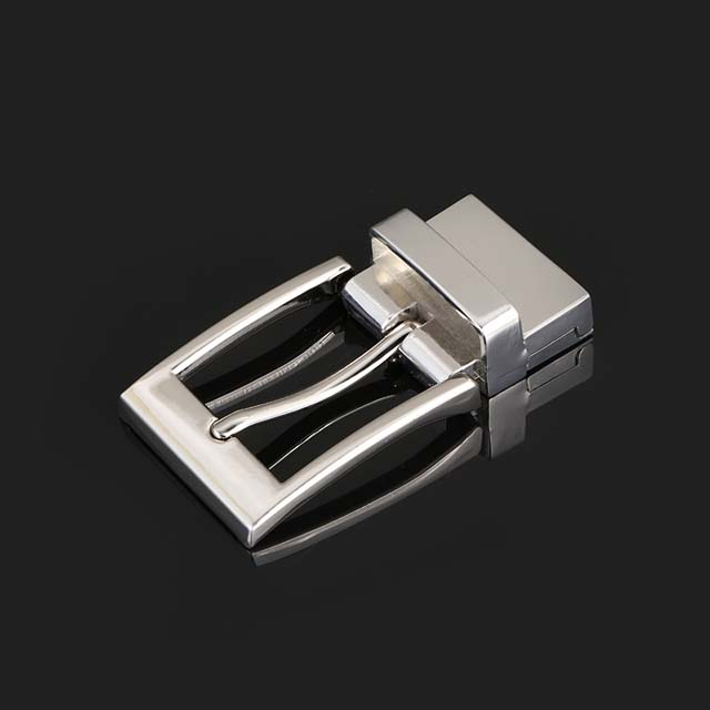 Nickel Finish Fashion Silver Men's Rotating Belt Buckle Wholesale