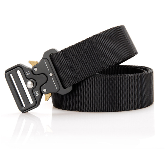 Free Laser Logo Men Waist Belt Adjustable Quick Release Nylon Cobra Buckle Military Belt