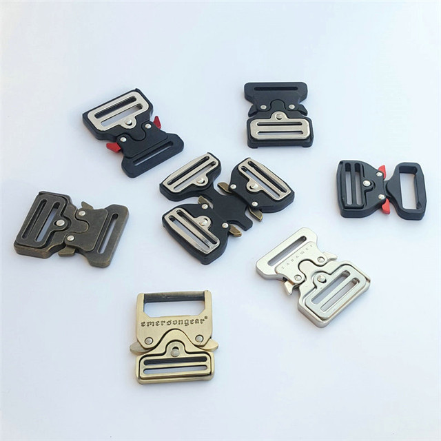Wholesale Adjustable Black Color Custom Solid Durable Tactical Belt Cobra Buckle 38mm