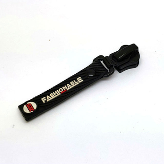 Soft Rubber Material Zipper Puller with Custom Brand Logo