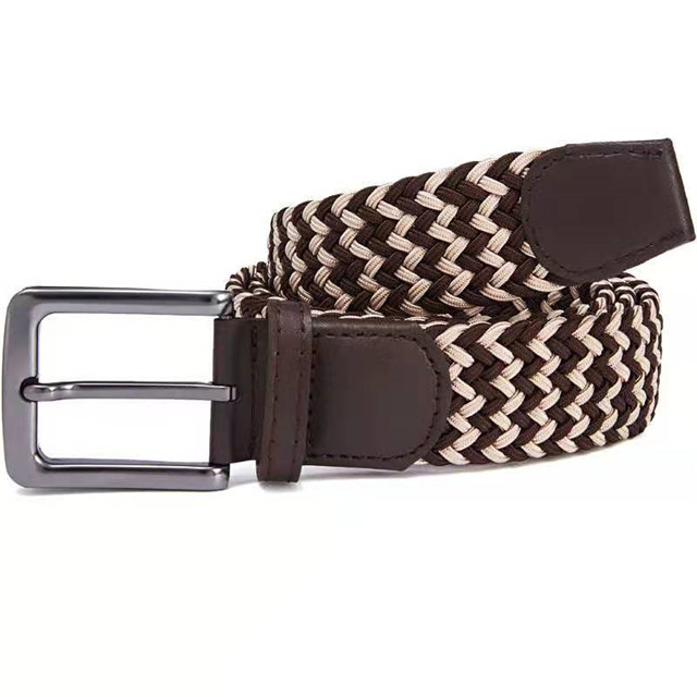 Fashion PU Lady Elastic Belt, Women Fashion Weaving Colored Leather Belt
