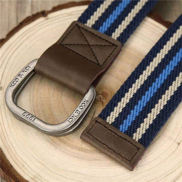 Yiwu Factory Custom Logo Metal Buckle Cotton Canvas Fabric Strap Waist Belt
