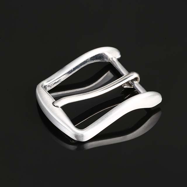 Shiny Silver Pin Belt Buckle Wholesale Metal Custom Men Design Your Own Buckle