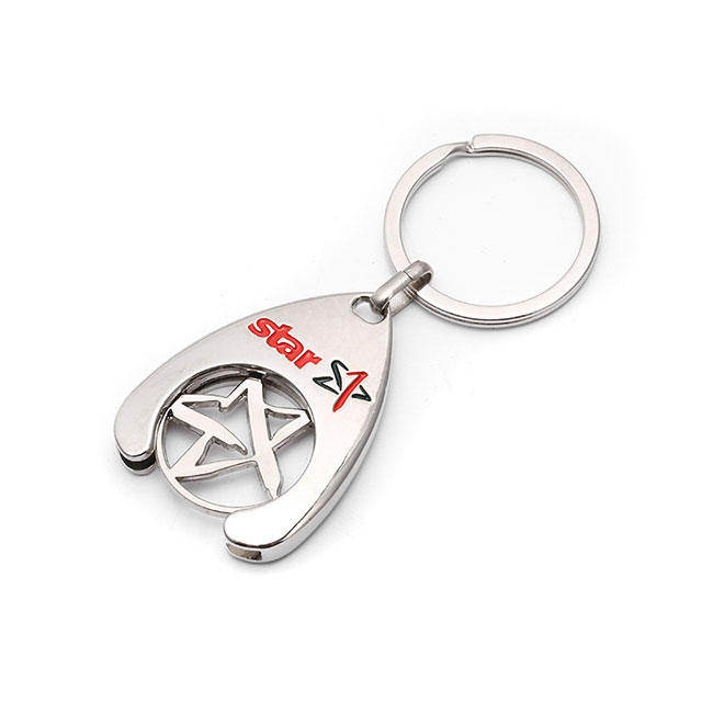 Promotional Gift Metal Alloy Men Car Key Chain 2019 Key Ring Custom