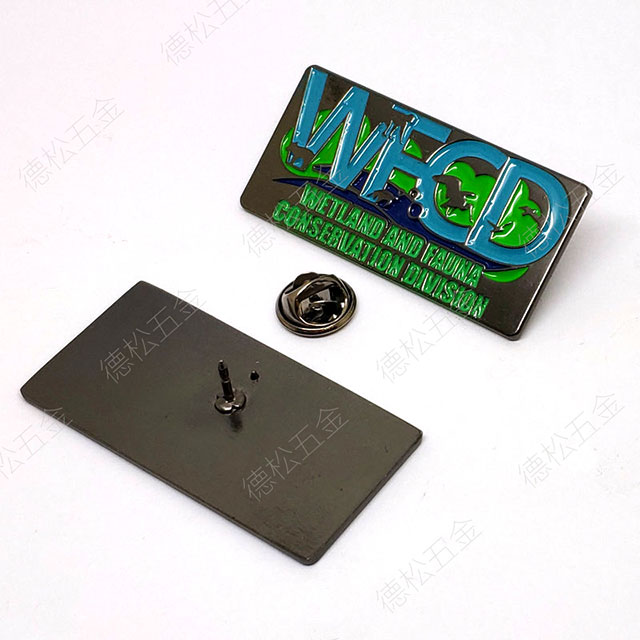 Promotional Zinc Allot Custom Cheap Metal Badge Pin With Butterfly Button Clip