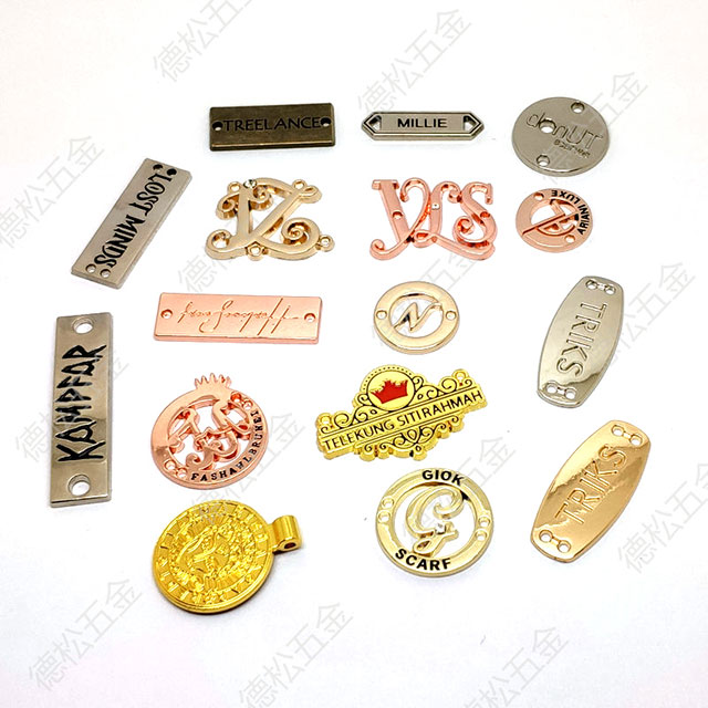 Private Custom Label Clothing Manufacturers Main Metal Label Tag Supplier in China