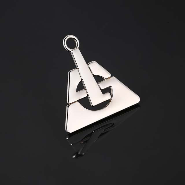 Clothing Metal Abaya Logo Customized Small Metal Letter Logo Label Sew For Bags Gold Metal Clothing Label for Bikini