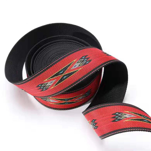 Custom Jacquard Tedlon Alphabet Plain Weave Nylon Ribbon Clothing Luggage Belt Accessories Factory Proof Customized Wholesale