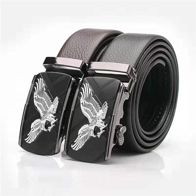 ZK33-560 Men's Top Quality Cow Pure Leather Custom Logo OEM Design Leather Belt