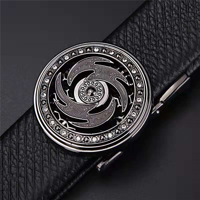 LYG3-0068-4 Highend Fashion Business Men Real Leather Strap Custom Length Belt Buckles