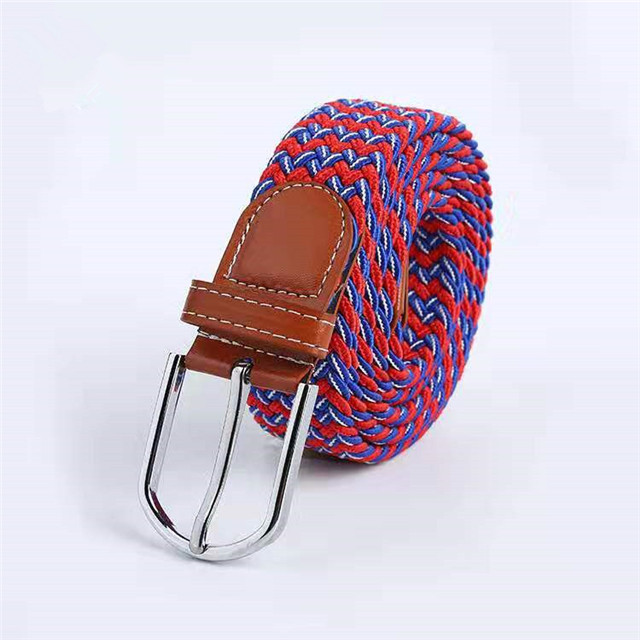 Factory Directly Price Men Elastic Leather Belt Three Color Strech Belt with Pin Buckle