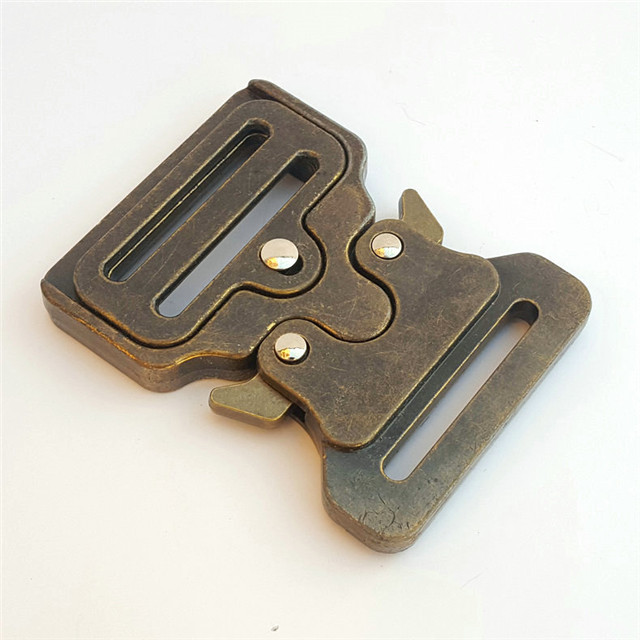 Hot Sale Military Metal Zinc Alloy Tactical Cobra Belt Buckle 38mm Antique brass Color